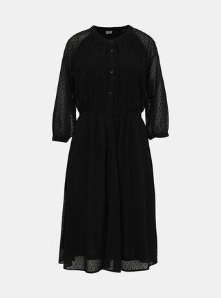 Čierne vzorované šaty Jacqueline de Yong Blair
