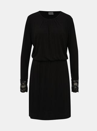 Čierne rebrované šaty Jacqueline de Yong Molly