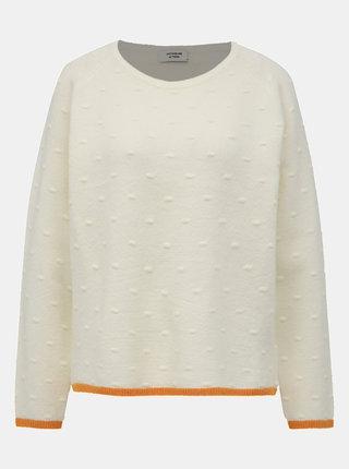 Biely vzorovaný sveter Jacqueline de Yong Chara