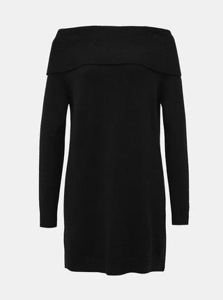 Čierne svetrové šaty ONLY Kaysa
