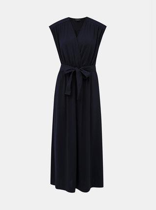 Tmavě modré maxi šaty Selected Femme Kamira