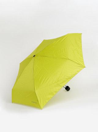 Světle zelený skládací deštník Esprit Petito