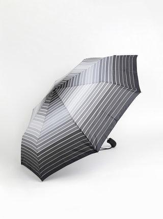 Šedý pruhovaný skládací vystřelovací deštník Esprit