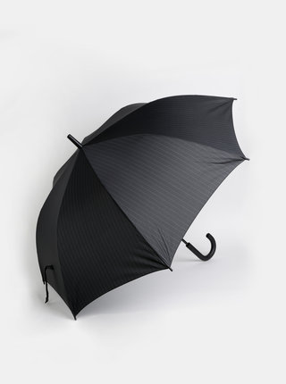 Černý pruhovaný vystřelovací deštník Esprit Gents Long