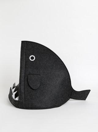 Tmavošedý peliešok v tvare žraloka SIFCON