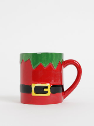 Červený hrnček s vianočným motívom SIFCON 450 ml