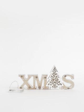Vianočná svietiaca drevená dekorácia SIFCON