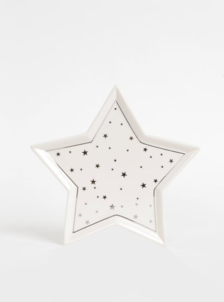 Krémový keramický tác ve tvaru hvězdy SIFCON