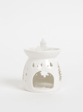 Bílá aromalampa s vánočním motivem SIFCON