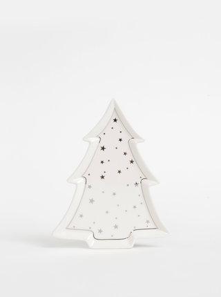 Krémový keramický tác ve tvaru stromečku SIFCON