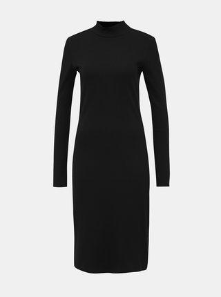 Čierne rebrované šaty VERO MODA AWARE Jeanette