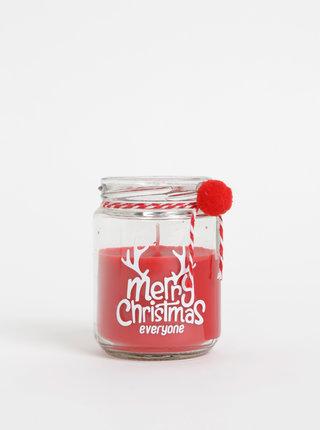 Červená svíčka s vánočním motivem SIFCON