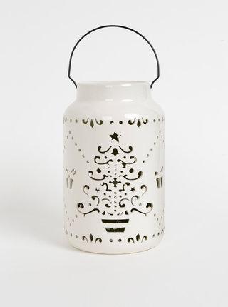 Krémová velká lucerna s vánočním motivem SIFCON