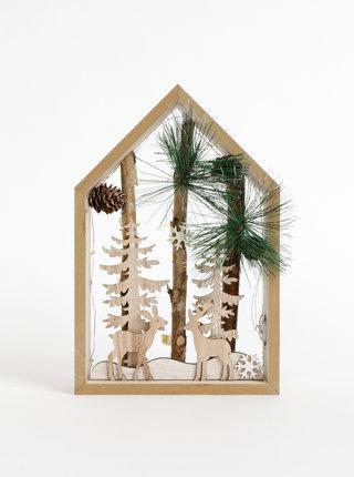 Vánoční dřevěná svíticí dekorace SIFCON