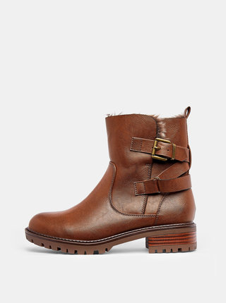 Hnedé členkové zimné topánky Dorothy Perkins Aloha
