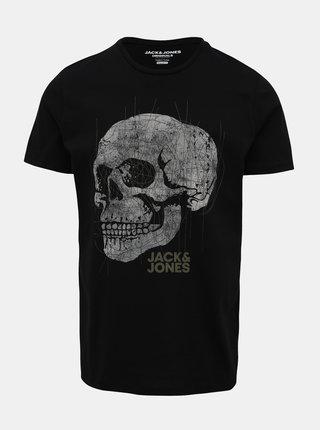 Čierne tričko Jack & Jones Embroidery