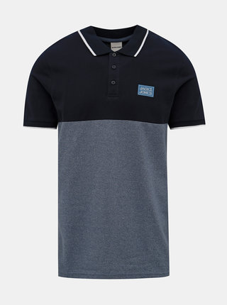 Modré polo tričko Jack & Jones Zero
