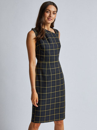Černé kostkované pouzdrové šaty Dorothy Perkins
