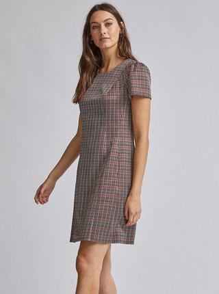 Béžové kockované šaty Dorothy Perkins