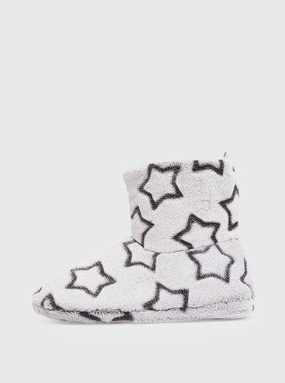 Svetlošedé vzorované papuče Dorothy Perkins