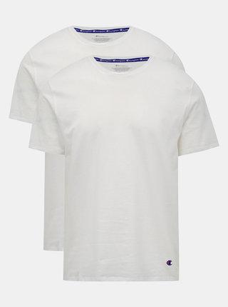 Sada dvou bílých pánských triček Champion
