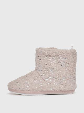 Staroružové vzorované papuče Dorothy Perkins