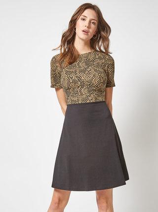 Hnědo-černé šaty s hadím vzorem Dorothy Perkins