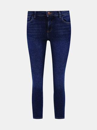 Modré zkrácené skinny džíny Dorothy Perkins Darcy