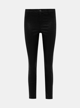 Černé skinny fit kalhoty s hadím vzorem Dorothy Perkins Frankie