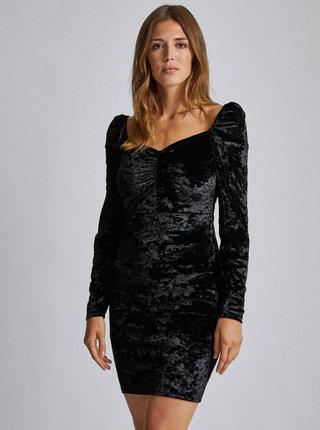 Čierne sametové púzdrové šaty Dorothy Perkins