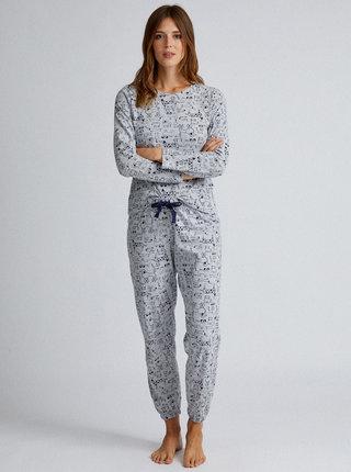 Světle šedé dvoudílné pyžamo Dorothy Perkins
