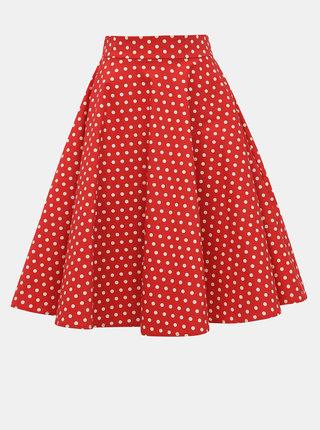 Červená puntíkovaná sukně Dolly & Dotty Shirley