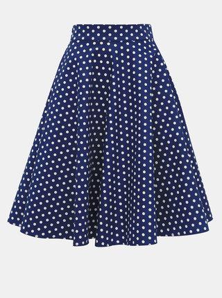 Modrá puntíkovaná sukně Dolly & Dotty Shirley