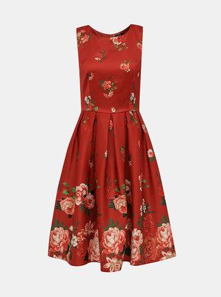 Červené květované šaty Dolly & Dotty Annie