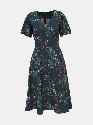 Tmavě modré květované šaty Dolly & Dotty Janice