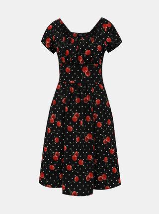 Černé vzorované šaty Dolly & Dotty Satin