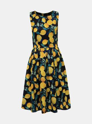 Žlto-čierne vzorované šaty Dolly & Dotty Annie