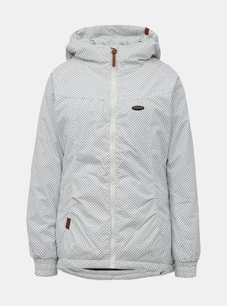 Bílá dámská vzorovaná zimní bunda Alife and Kickin Black Mamba A