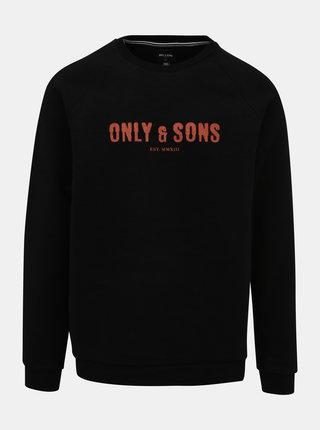 Čierna fleecová mikina ONLY & SONS Spencer