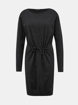 Tmavě šedé svetrové šaty Blue Seven