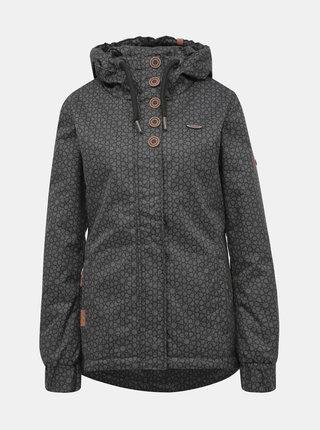 Tmavě šedá dámská vzorovaná zimní bunda Alife and Kickin Jade