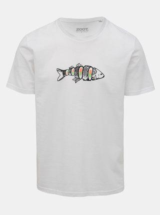 Biele pánske tričko s potlačou ZOOT Original Kapr sushi