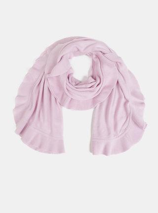 Světle růžová dámská šála s volánem Blue Seven