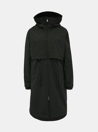 Tmavě zelený dámský voděodpudivý zimní kabát Makia