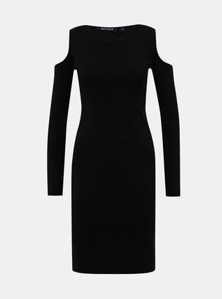 Čierne svetrové šaty Blue Seven