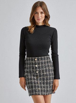 Černá kostkovaná sukně Dorothy Perkins