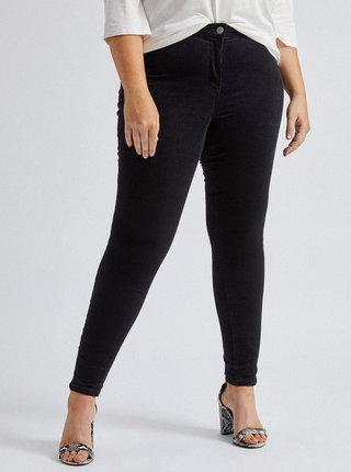 Černé manšestrové kalhoty Dorothy Perkins Curve