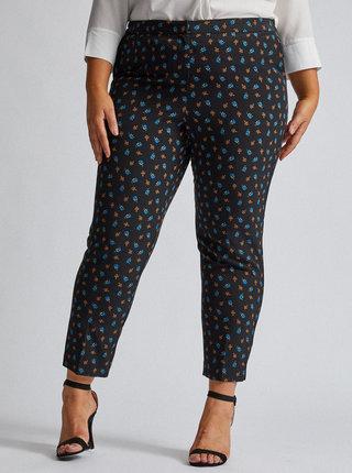 Černé květované kalhoty Dorothy Perkins Curve