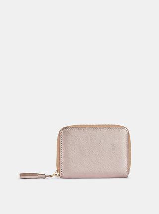 Růžová metalická peněženka Dorothy Perkins