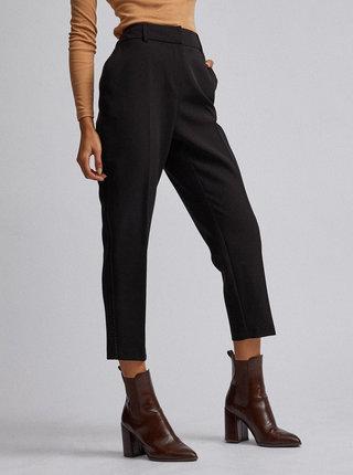 Černé zkrácené kalhoty s lampsem Dorothy Perkins